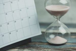 Calender and hourglass